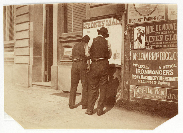 Advertising hoarding for McLean, Rigg from Sydney, ca. 1885-1890 / photographed by Arthur K. Syer.