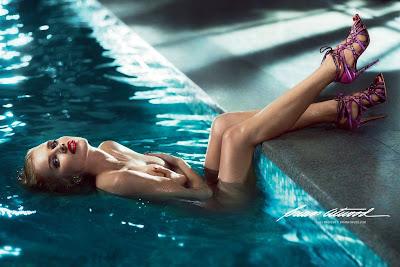 Eva Herzigova Naked for Brian Atwood's Spring 2013 Campaign