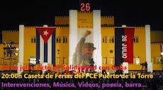 Acto-fiesta cubana en conmemoración del 65 aniversario del asalto al cuartel Moncada de Cuba