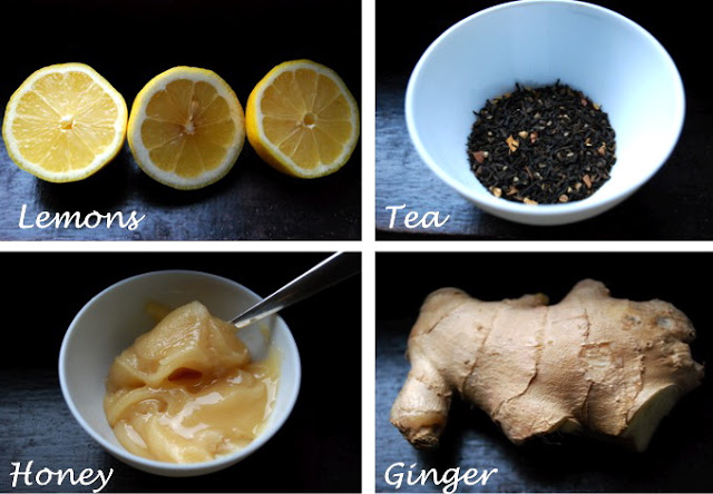 tea - lemon - ginger - honey - HD picture - tea recipe