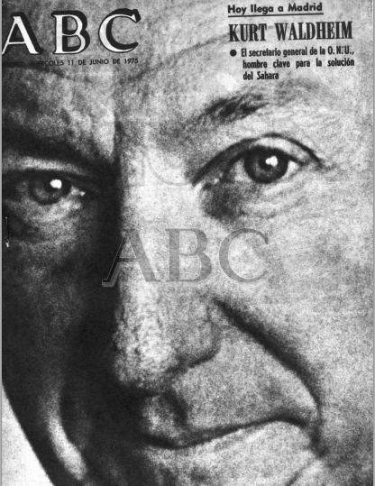 España asume la cuota más amplia en la responsabilidad de un desenlace pacífico y justo (ABC, 1975)