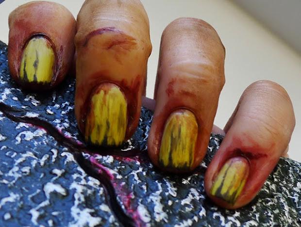 zombie nail art odd