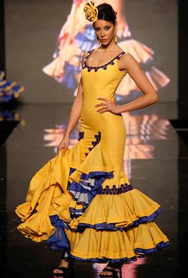 vestido de flamenca con tirantes