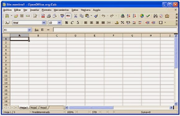 tampilan program openoffice calc