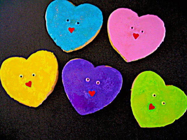Large Colorful Hearts
