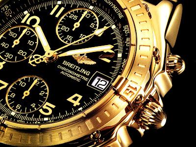 Breitling Golden Watch Wallpaper
