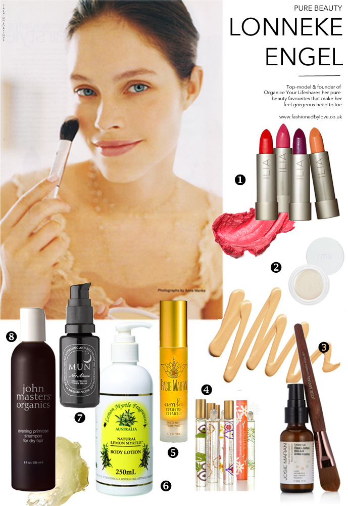 Lonneke Engel beauty secrets / fashion models favourite beauty and skin care / best organic and natural skin care and makeup / via fashioned by love british fashion blog