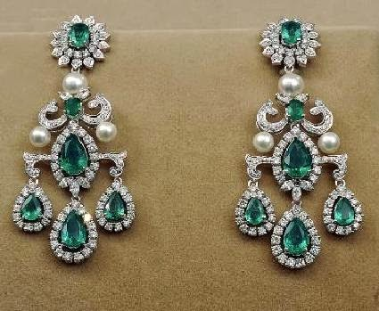 New Tanishq Diamond Ear ring Designs