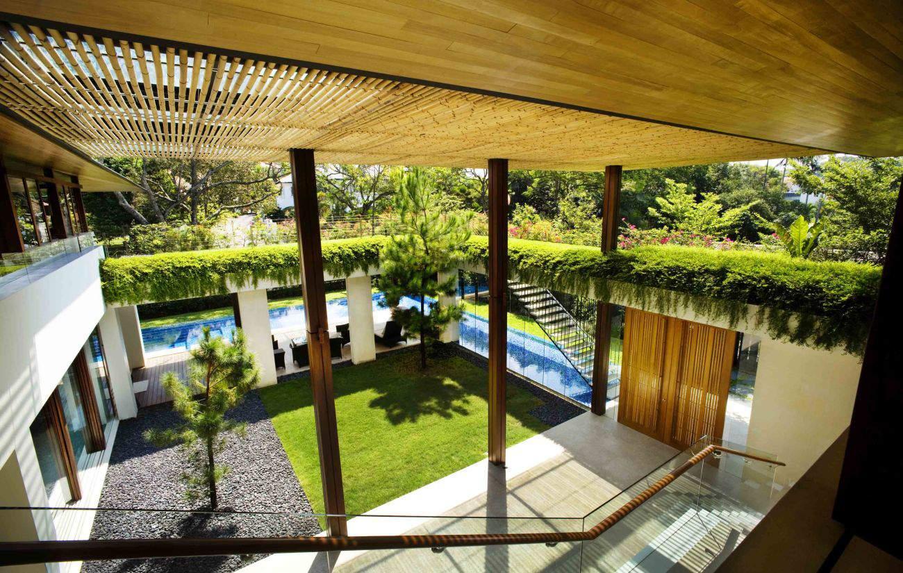 Contemporary tropical house tanga house modern home for Contemporary courtyard houses