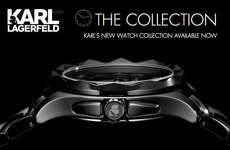 if it s hip it s here archives karl lagerfeld s new watch karl lagerfeld who has previously designed watches for such brands as chanel and fendi has just launched his own collection of watches for both men and