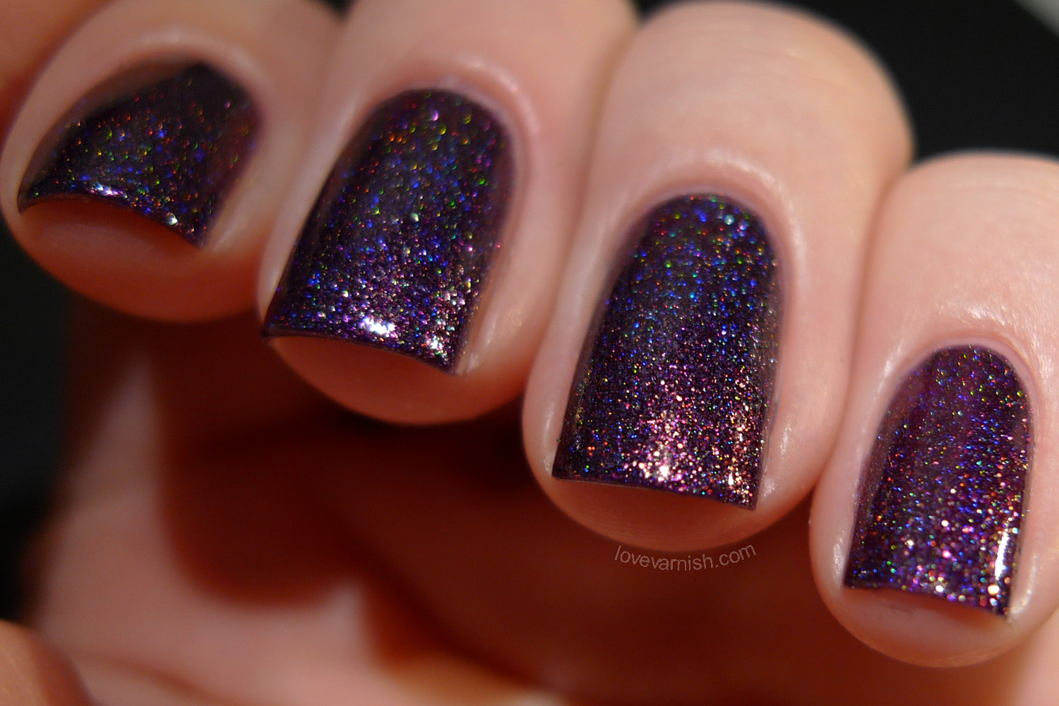 Glam Polish Legendary purple shimmer holographic