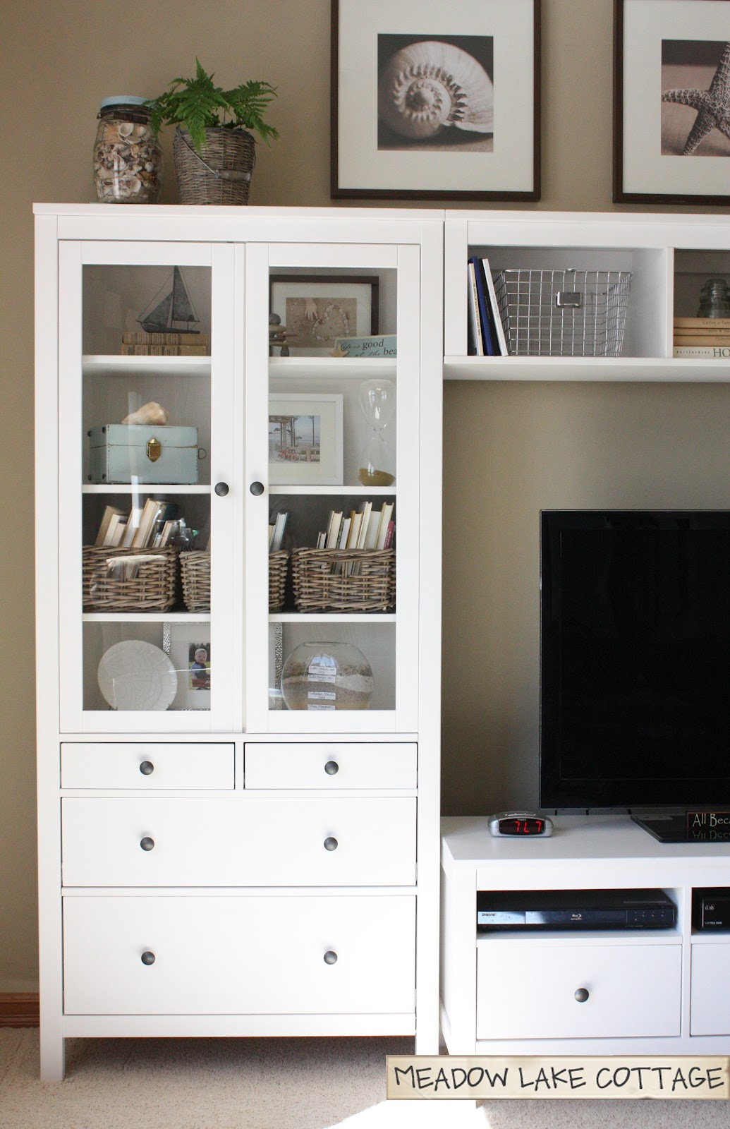 Ikea Faktum Legs Installation ~ Accessorized White Entertainment Center  Meadow Lake Road
