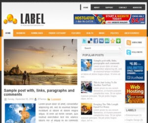 Label Blogger Template