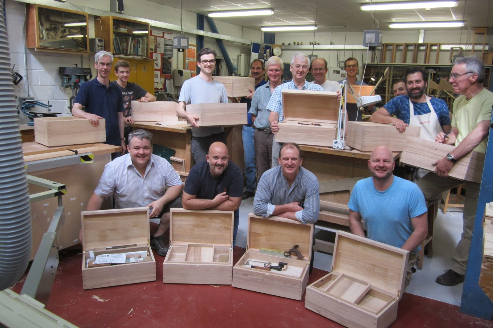 After Five Full On Days Here Is Everyone Proudly Showing Their Results, All  17 Of Them. Some Finished The Chest As Well As Both The Piston Fit Trays  And The ...