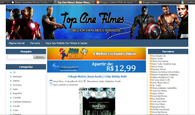 Template do Top Cine Filmes blogger