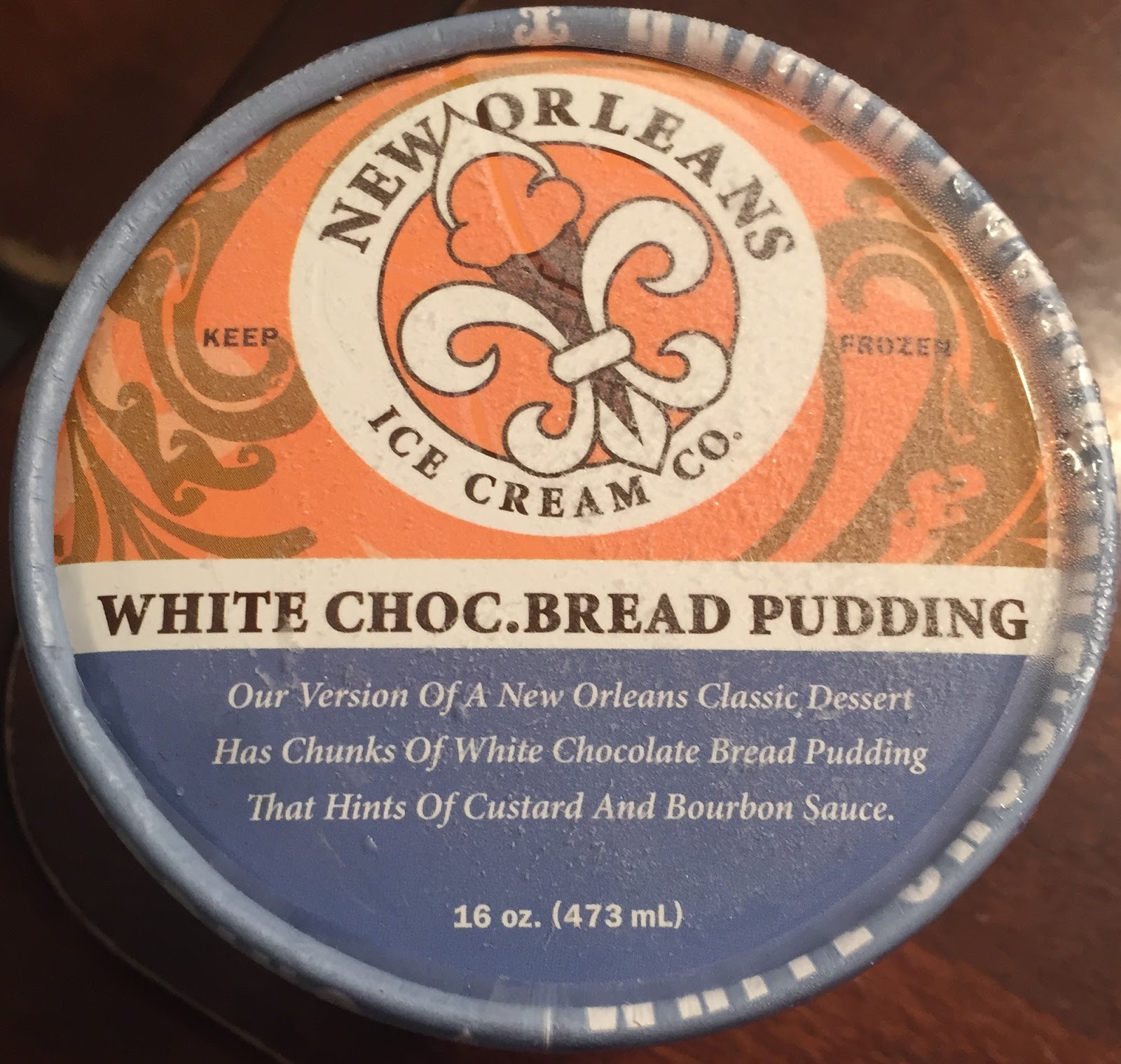 New Orleans Ice Cream Co. White Chocolate Bread Pudding