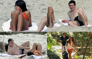 Linel Messi and Antonella Roccuzzo