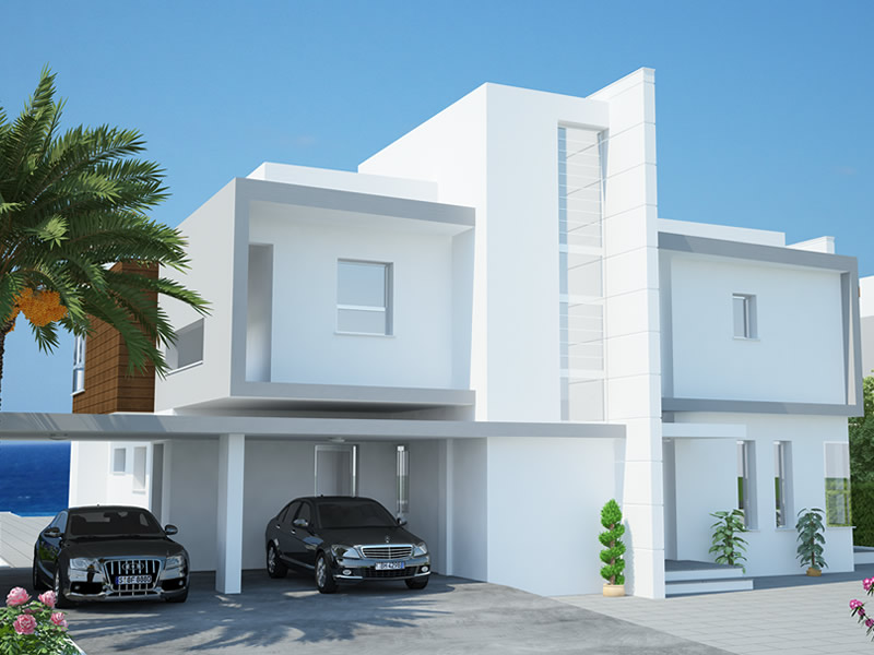 New home designs latest cyprus protaras modern villas for Villas designs photos
