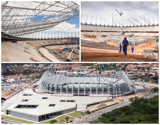 Situação das obras do Estádio Castelão em julho de 2012