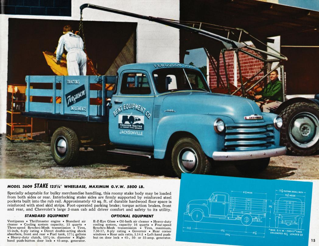 1953 chevrolet trucks brochure medium duty