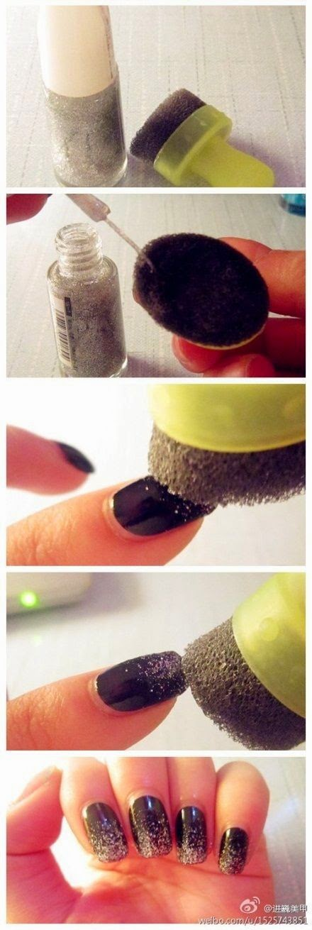 how to make a sparkle nail art