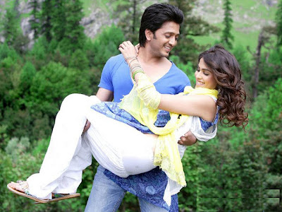 Genelia and Deshmukh Romantic Photos