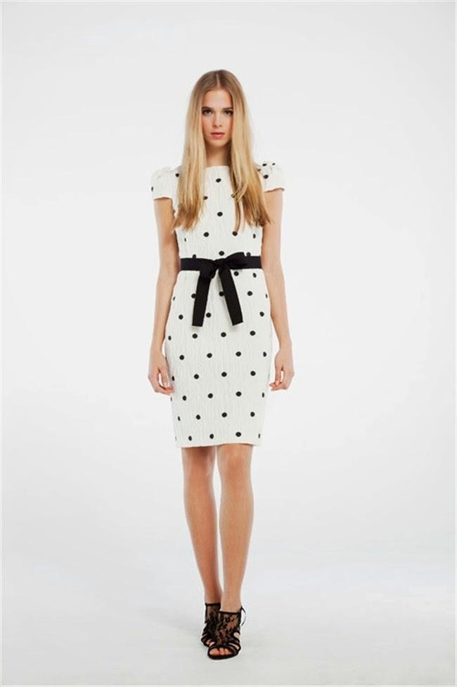 Vestido blanco con puntos