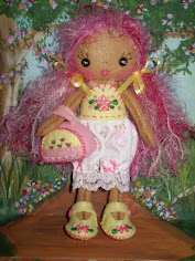 "Pixie Petal Felt Doll Pdf ePattern...She measures 6"" when completed."