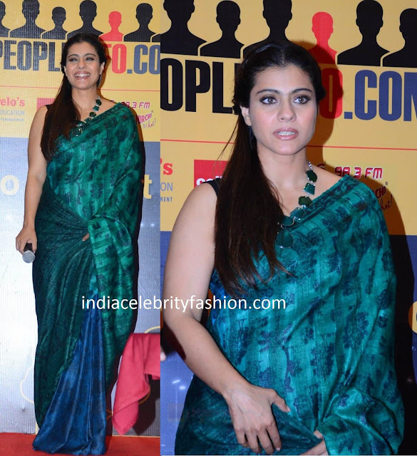 Kajol in Saree at a website launch
