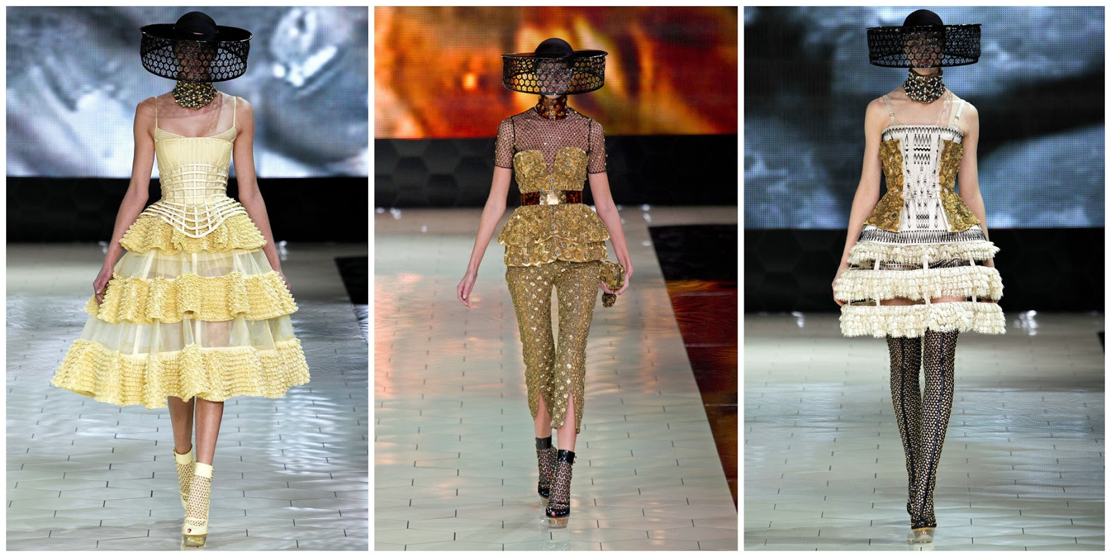 Magic Dress Trends Alexander Mcqueen Spring 2013 Fashion Show
