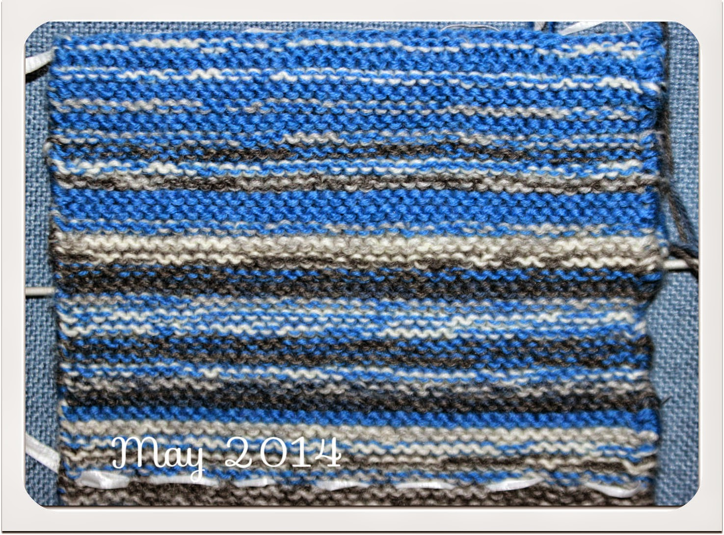 May 2014 knitted representation of the sky