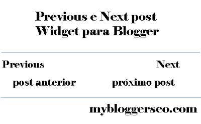Previous e Next post widget blogger