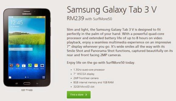 Harga Tablet Samsung Galaxy Tab 3V