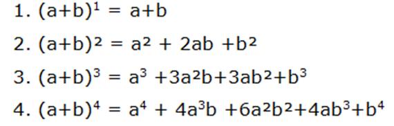 Deducción del binomio de newton para exponente entero y positivo