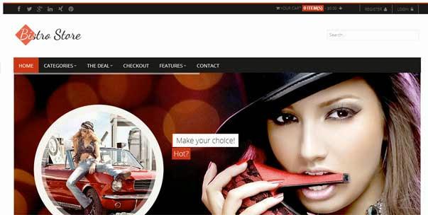 Bistro Store e-Commerce WordPress Theme