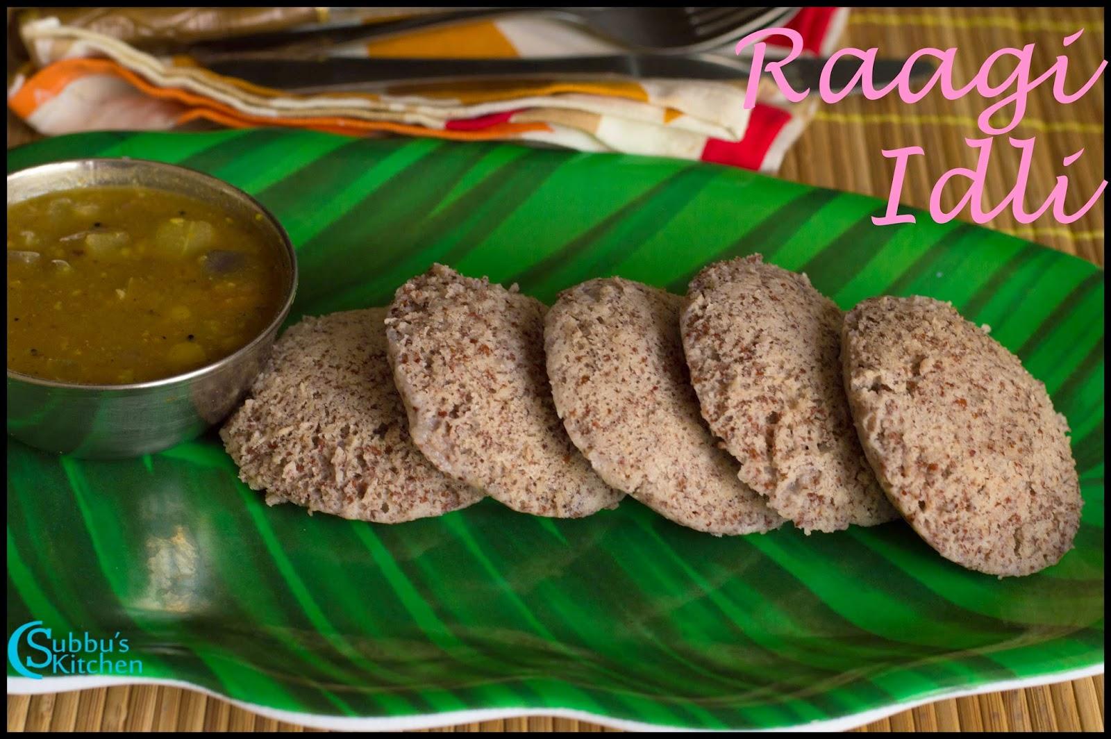 Raagi Idli Recipe | Finger Millet Idli Recipe