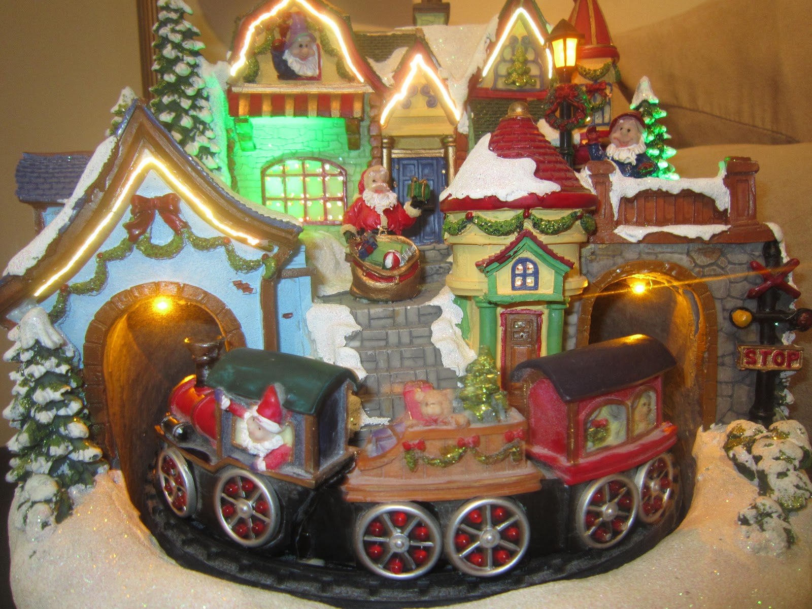Santa's village, Christmas, Christmas decoration, Christmas train