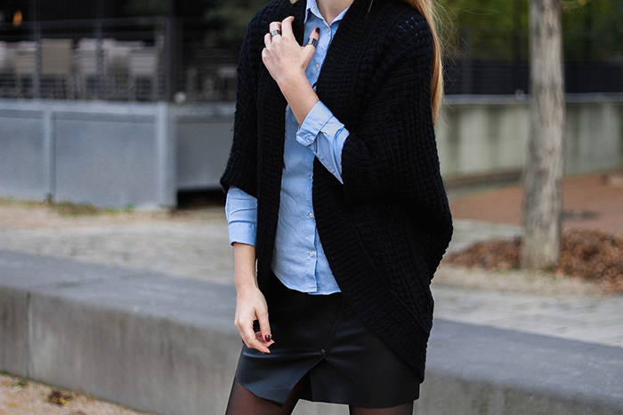 black blue outfit