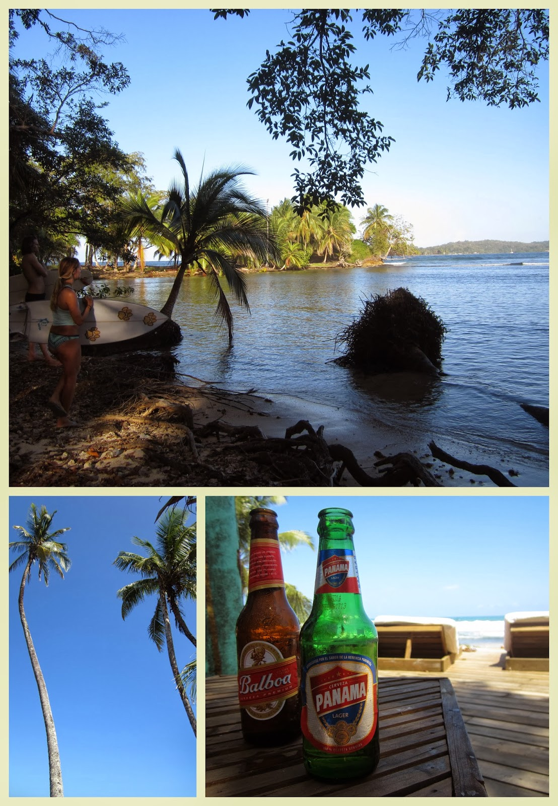 """""""cervezas Panamá y Balboa. Surf"""""""