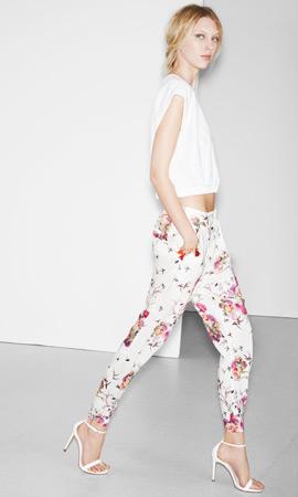 Zara trf verano 2013 pantalón estampado floral