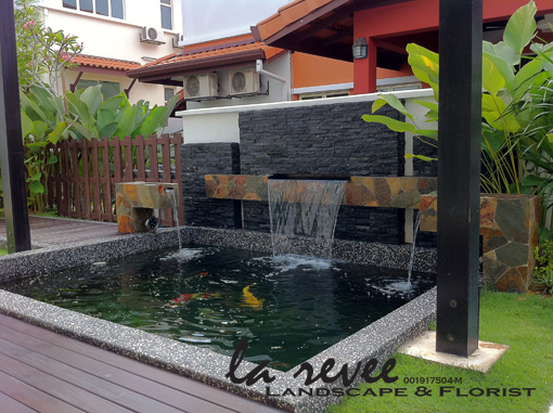 Professional koi pond and landscape contractor for Koi fish pond design in malaysia