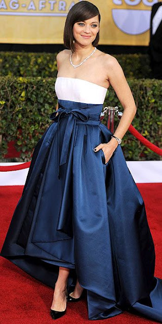 Marion Cotillard SAG dress, Dior, Screen Actors Guild Awards fashion, SAG fashion