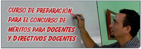 Curso de preparaci n concurso docente y directivos docente for Curso concurso docente 2016
