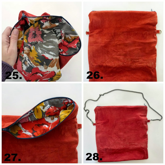 cross body leather clutch purse sewing tutorial