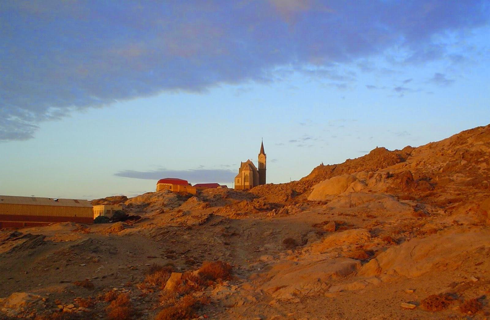 Sunset in Luderitz Namibia - www.namibweb.com