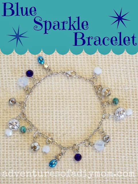 How to Make a Blue Sparkle Bracelet