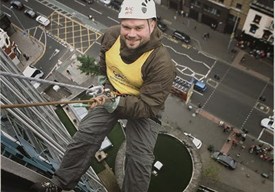 Sponsored abseil for Cats Protection Belfast Adoption Centre
