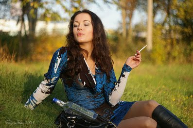 Great picture of woman smoking