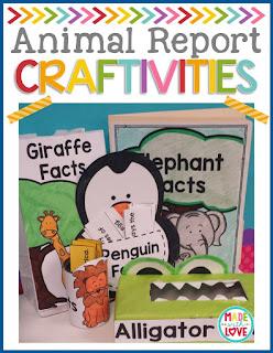 https://www.teacherspayteachers.com/Product/Animal-Report-Craftivities-2112725