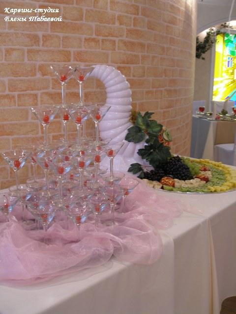 карвинг фрукты пирамида из шампанского южно-сахалинск